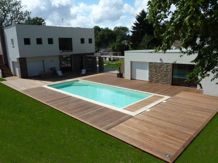 terrasse en bois à Feucherolles Yvelines 78