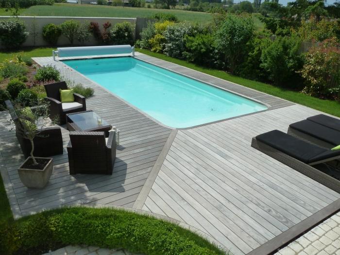 Terrasse bois 44 menuiserie paysag re - Terrasse piscine grise ...